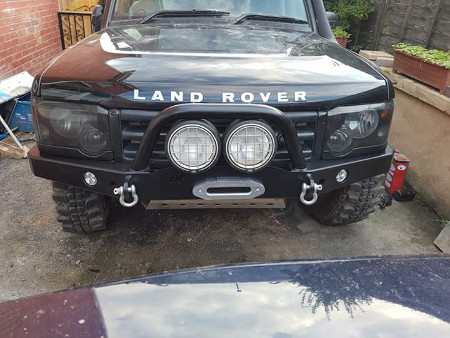 Discovery Winch Bumper with A Bar & Led Lights