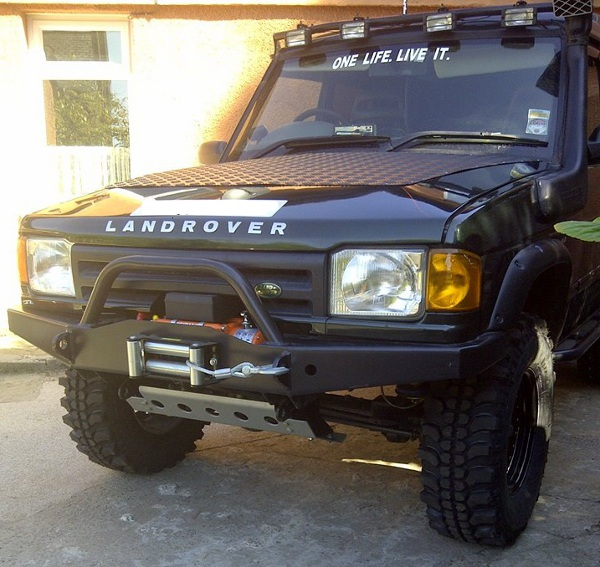 Winch Bumper With Led Lights By Rovers North For Discovery: Heavy Duty RSB Landrover Discovery Winch Bumper