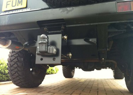 Discovery Tank Guard With Removable Tow Hitch
